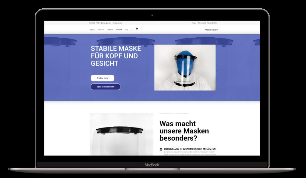 Website Maske-bayern.de